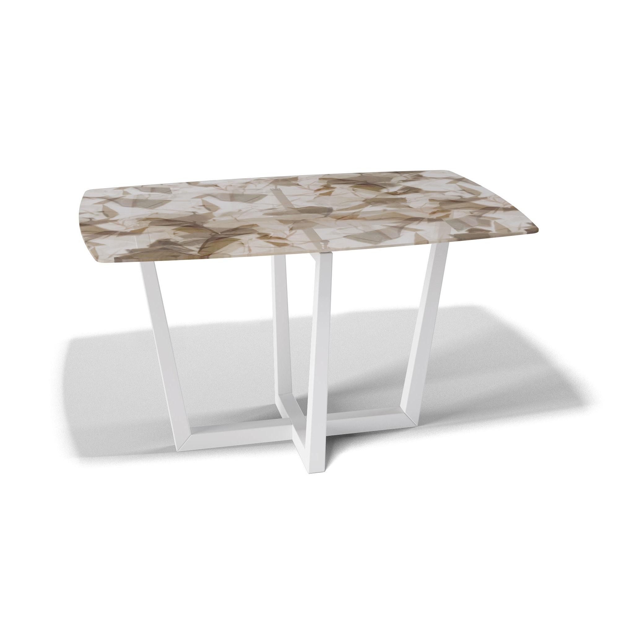 Стол обеденный KennerОбеденные столы<br>Столешница выполнена из стекла &amp;quot;триплекс&amp;quot;(6 мм - два или более органических или силикатных стекла, склеенные между собой специальной полимерной плёнкой, способной при ударе удерживать осколки)  с тканью внутри.&amp;lt;div&amp;gt;Основание выполнено массива бука. Стекло не боится влаги, бытовой химии, выдерживает перепады на горячие и холодные температуры.&amp;amp;nbsp;&amp;lt;/div&amp;gt;&amp;lt;div&amp;gt;За таким столом могут разместиться 6 человек.&amp;lt;/div&amp;gt;<br><br>Material: Дерево