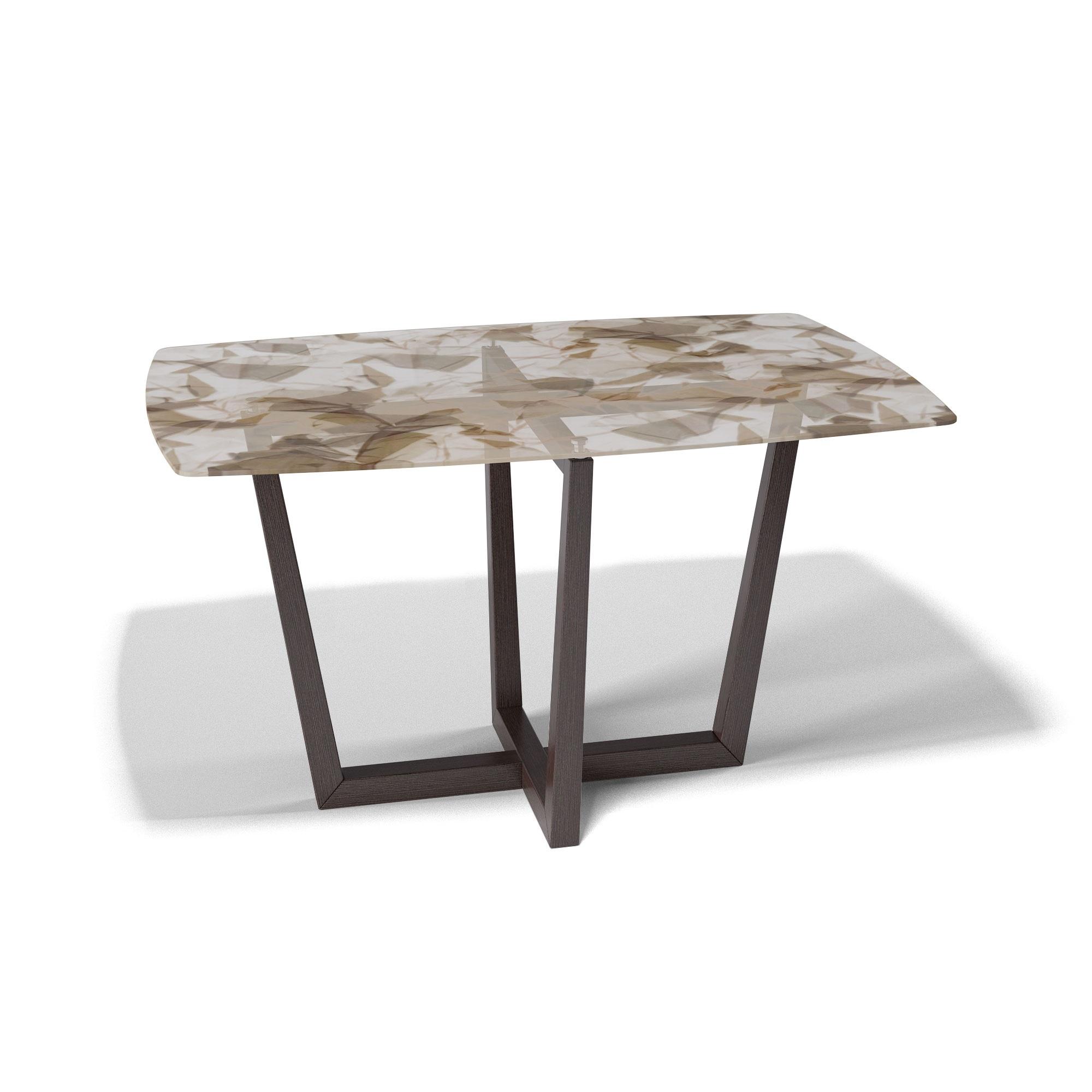 Стол обеденный KennerОбеденные столы<br>Столешница выполнена из стекла триплекс(6 мм - два или более органических или силикатных стекла, склеенные между собой специальной полимерной плёнкой, способной при ударе удерживать осколки)  с тканью внутри.&amp;nbsp;Основание выполнено массива бука.&amp;nbsp;Стекло не боится влаги, бытовой химии, выдерживает перепады на горячие и холодные температуры.&amp;nbsp;За таким столом могут разместиться 6 человек.<br><br>kit: None<br>gender: None