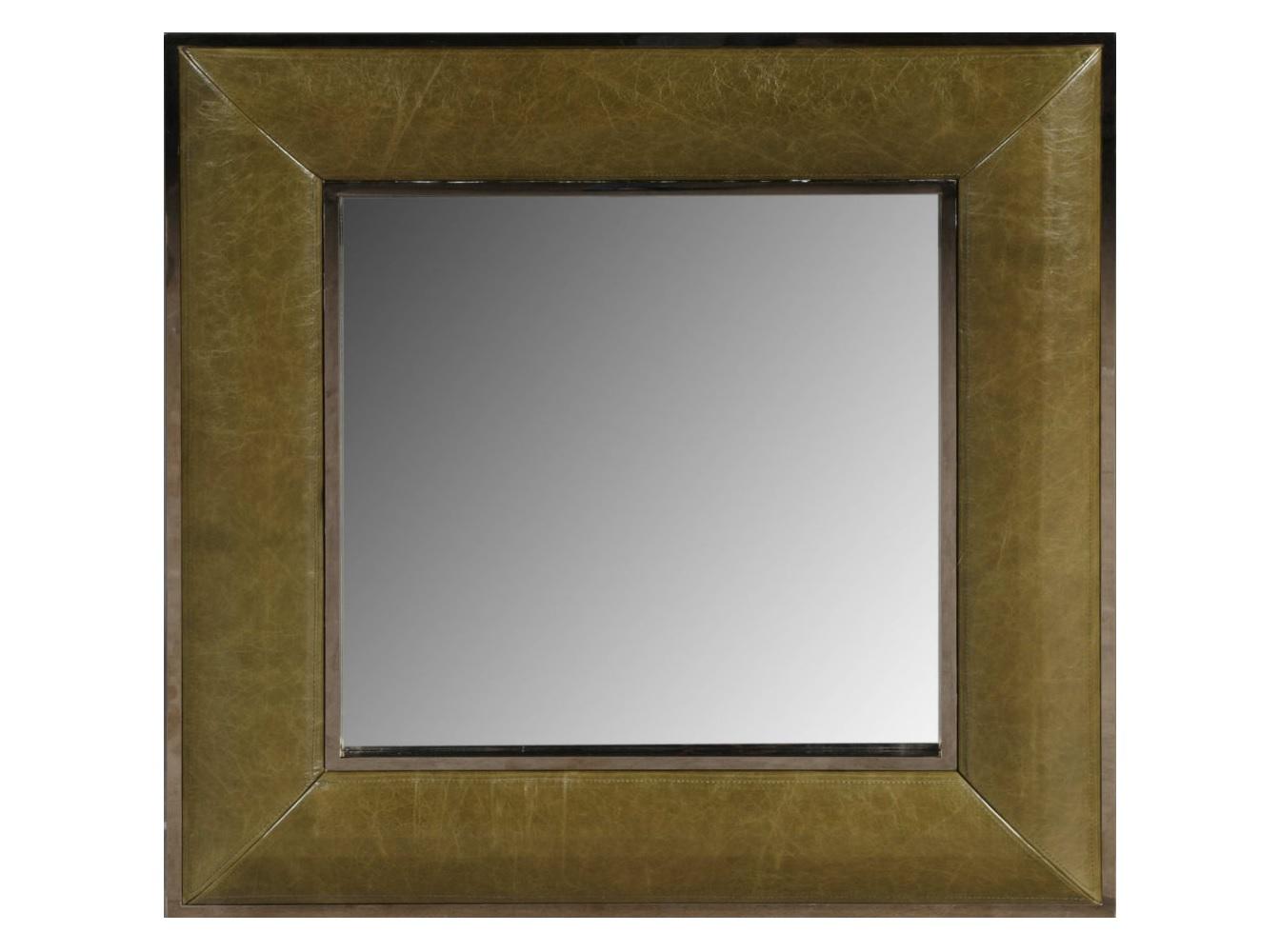 Зеркало Luxury &amp; NobilityНастенные зеркала<br><br><br>Material: Кожа<br>Ширина см: 90<br>Высота см: 90<br>Глубина см: 5