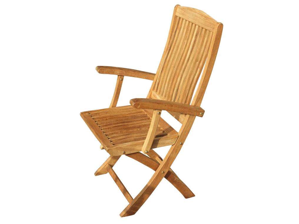 Кресло складное JessicaКресла для сада<br>Складное кресло с подлокотниками и удобной спинкой. Для комфортного отдыха на открытом воздухе. Драгоценная древесина тика и немецкое качество.<br><br>Material: Тик<br>Ширина см: 50<br>Высота см: 100<br>Глубина см: 58