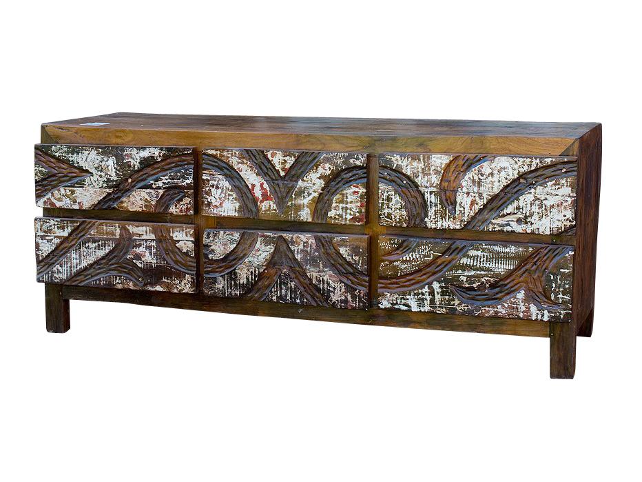 Комод MaoriИнтерьерные комоды<br><br><br>Material: Тик<br>Ширина см: 150<br>Высота см: 60<br>Глубина см: 50