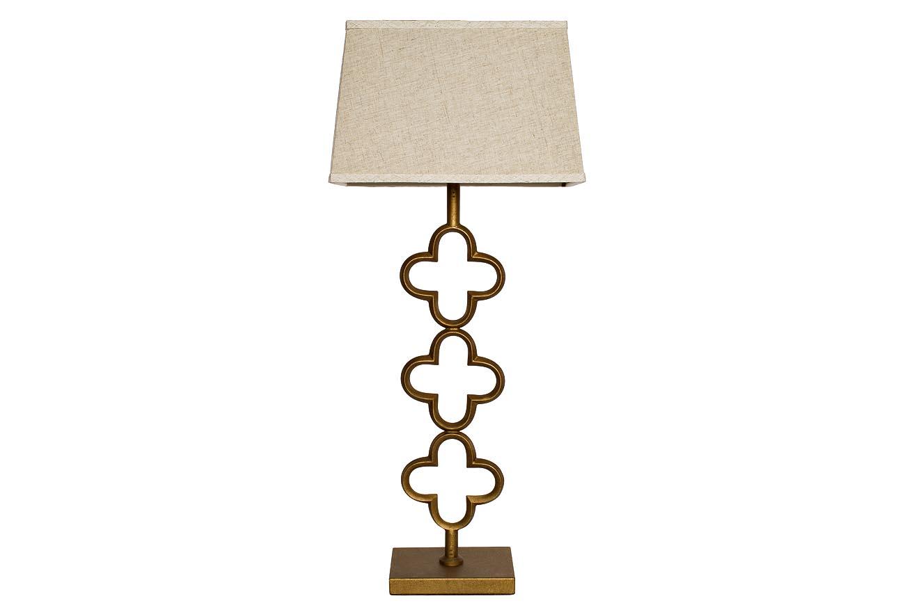 Лампа настольнаяДекоративные лампы<br>Вид цоколя: E27Мощность: 60WКоличество ламп: 1 (нет в комплекте)Материал: плафон - ткань цвет кремовый, металл - цвет медный<br><br>kit: None<br>gender: None