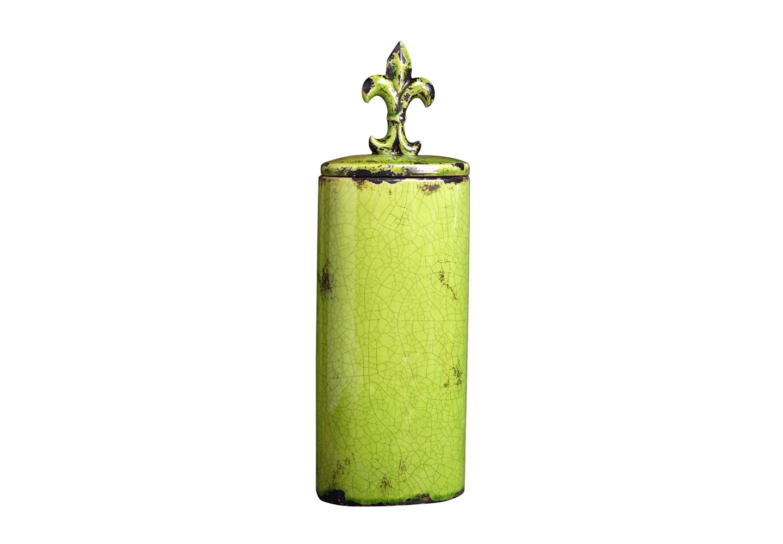 Ваза EmpireВазы<br>Декоративная ваза из фаянса с геральдической лилией на крышке.<br><br>kit: None<br>gender: None