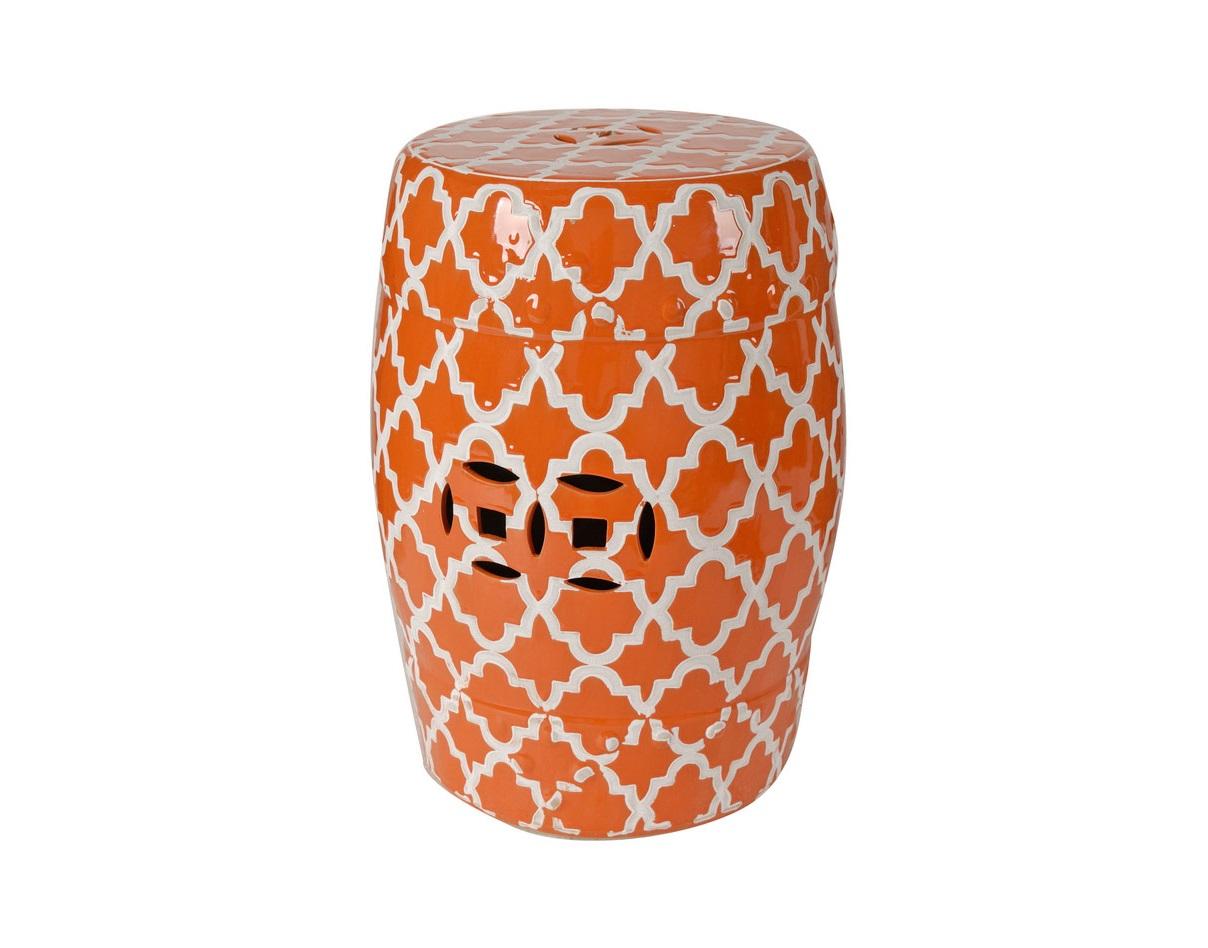 Табурет OrangeТабуреты<br>При первом взгляде на Orange в голове рождаются весьма разнообразные ответы на вопрос: «Что это?» Перевёрнутая верх дном ваза? Фарфоровый барабан «там-там»? Концептуальное украшение? По-своему, верны все версии.&amp;amp;nbsp;<br><br>Material: Керамика<br>Ширина см: 33<br>Высота см: 46<br>Глубина см: 33