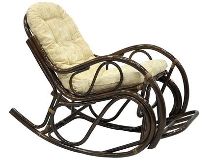 Кресло-качалка с подножкой коричневое (ecogarden) коричневый 56x93x117 см.