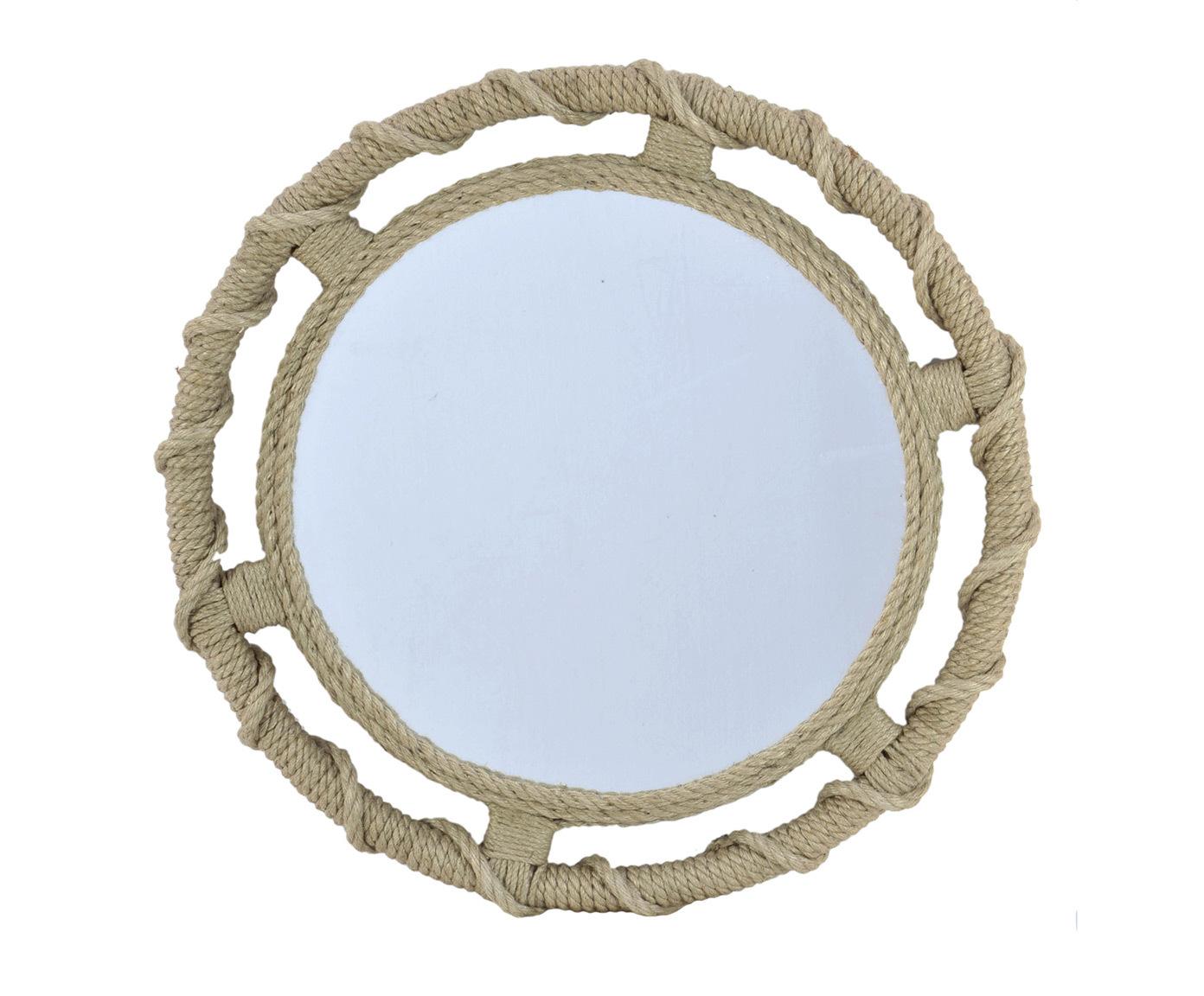 Зеркало BaukisНастенные зеркала<br><br><br>Material: Джут<br>Ширина см: 60.0<br>Высота см: 60.0<br>Глубина см: 4.0