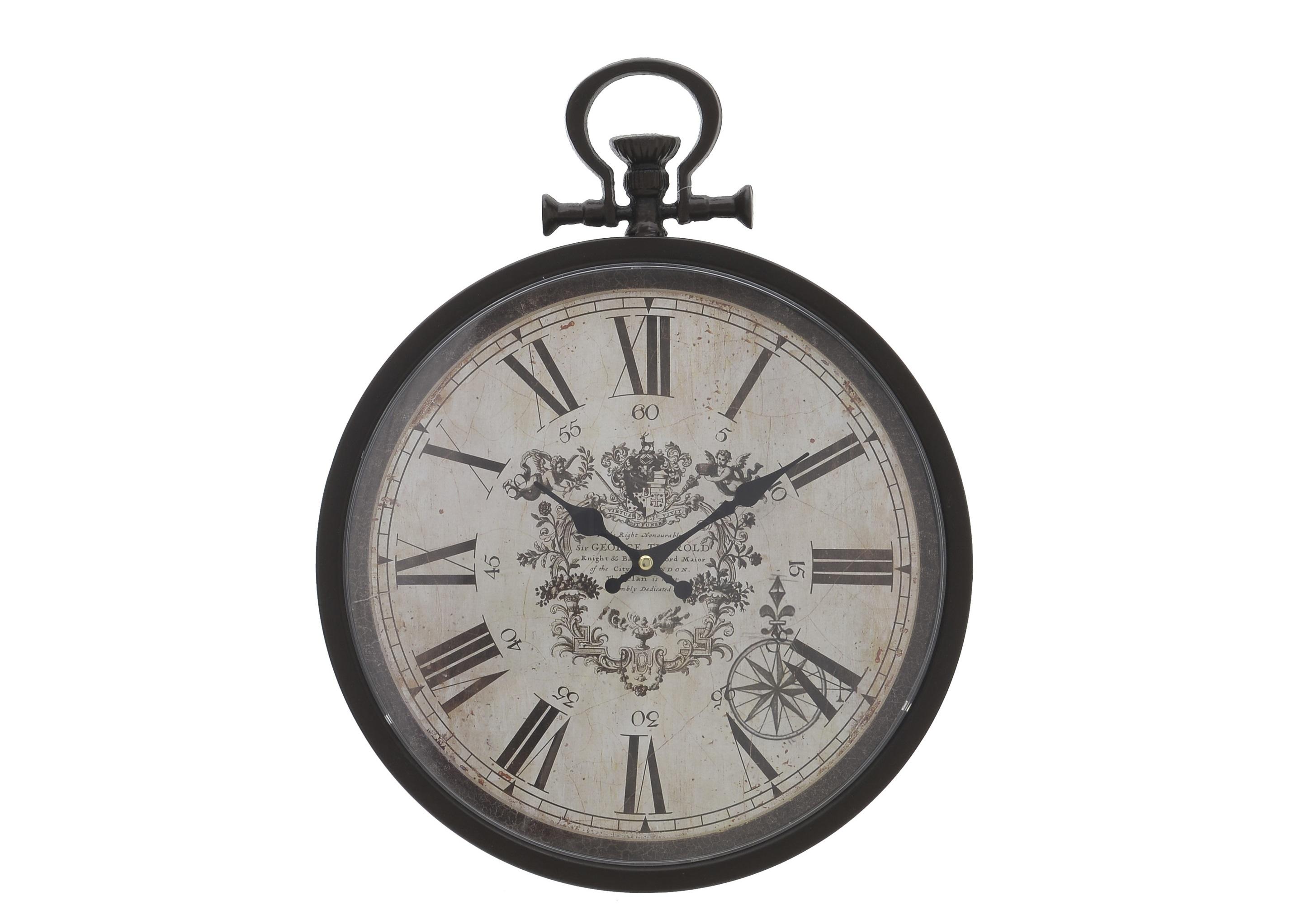 Часы настенные KensingtonНастенные часы<br>Кварцевый механизм.<br><br>Material: Металл<br>Ширина см: 32<br>Высота см: 38<br>Глубина см: 5