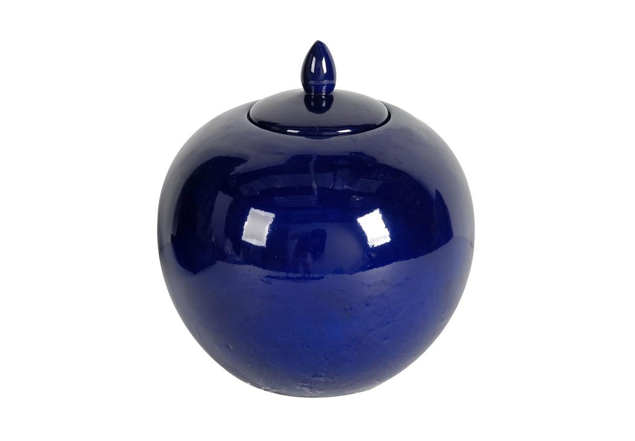 Baза с крышкой DeepЕмкости для хранения<br>&amp;lt;div&amp;gt;Baза с крышкой Deep Blue.&amp;lt;br&amp;gt;&amp;lt;/div&amp;gt;Чтобы привычная обстановка заиграла новыми красками, порой достаточно всего одной новой детали. Такой, как ваза Deep Blue. Её насыщенный синий цвет (собственно, и давший название) в сочетании с зеркальным глянцем буквально притягивает взгляд. <br>В памяти н...<br><br>Material: Керамика<br>Высота см: 28