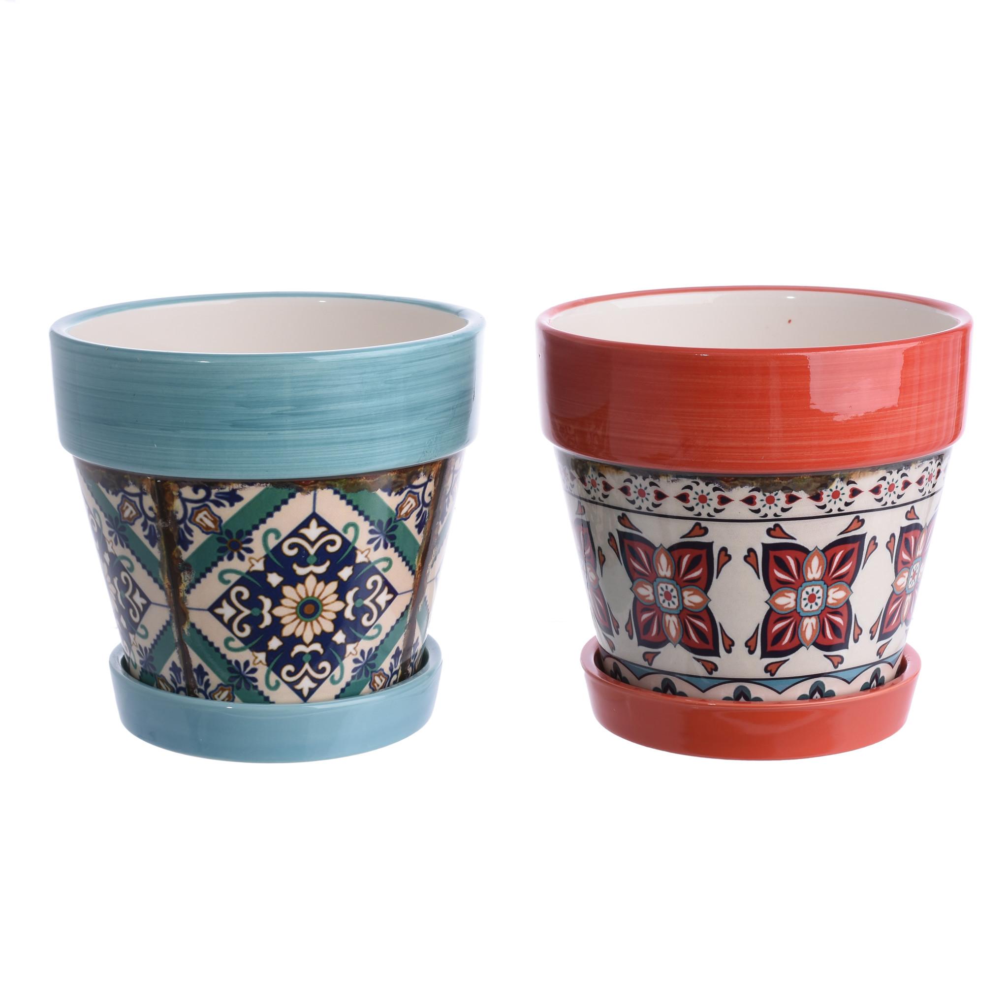 Набор кашпо Kelila (2шт)Кашпо и аксессуары для цветов<br><br><br>Material: Керамика<br>Ширина см: 30<br>Высота см: 35<br>Глубина см: 30