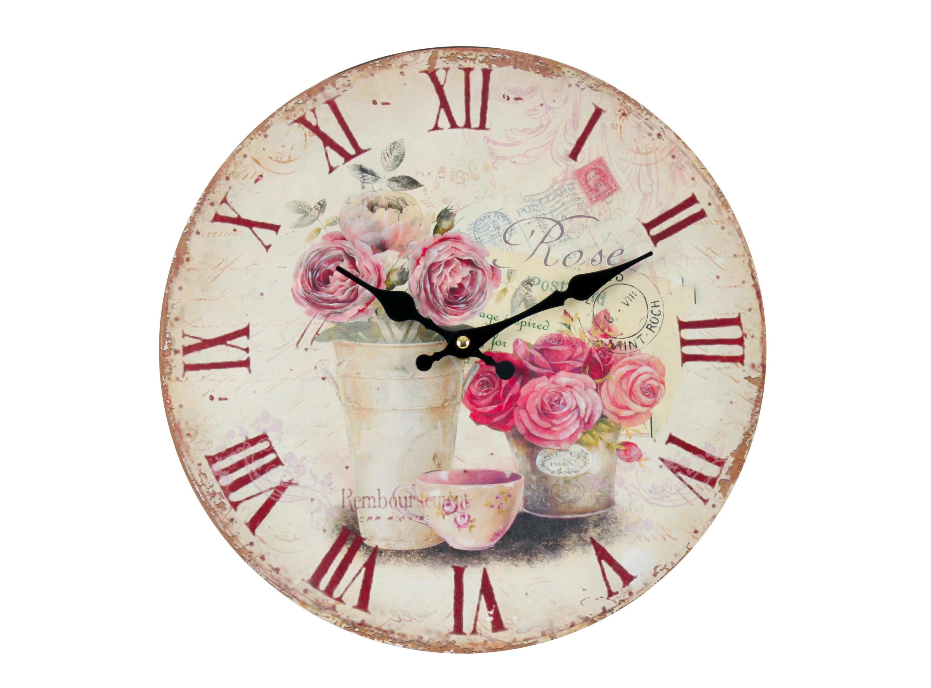 Часы настенные TelmoНастенные часы<br>Кварцевый механизм.<br><br>Material: МДФ<br>Глубина см: 4