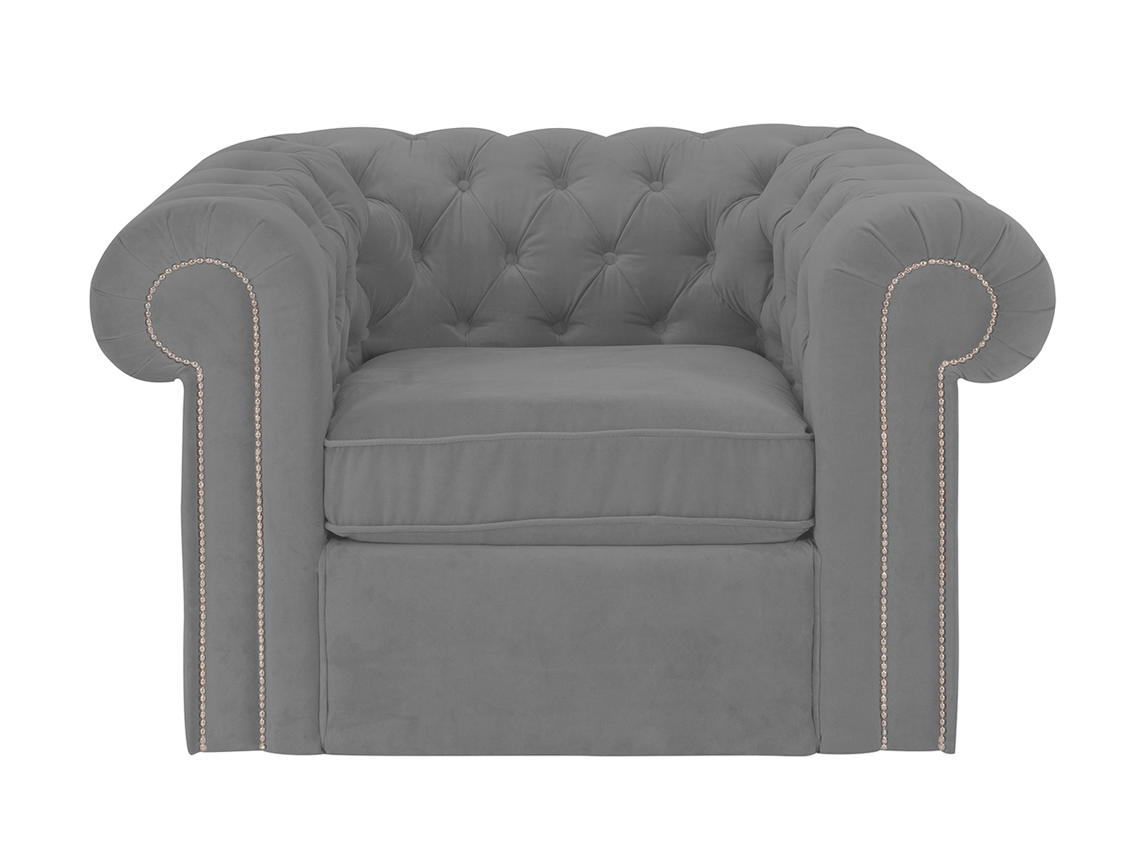 Кресло ChesterИнтерьерные кресла<br>Кресло классическое. Подлокотники декорированы молдингами.Материалы:Каркас: деревянный брус, МДФ, фанераПодушки сидений: пенополиуретан, синтепон.Обивка: ткань, полиэстер 100%.Глубина сиденья: 67 cмШирина сиденья: 60 cм<br><br>kit: None<br>gender: None
