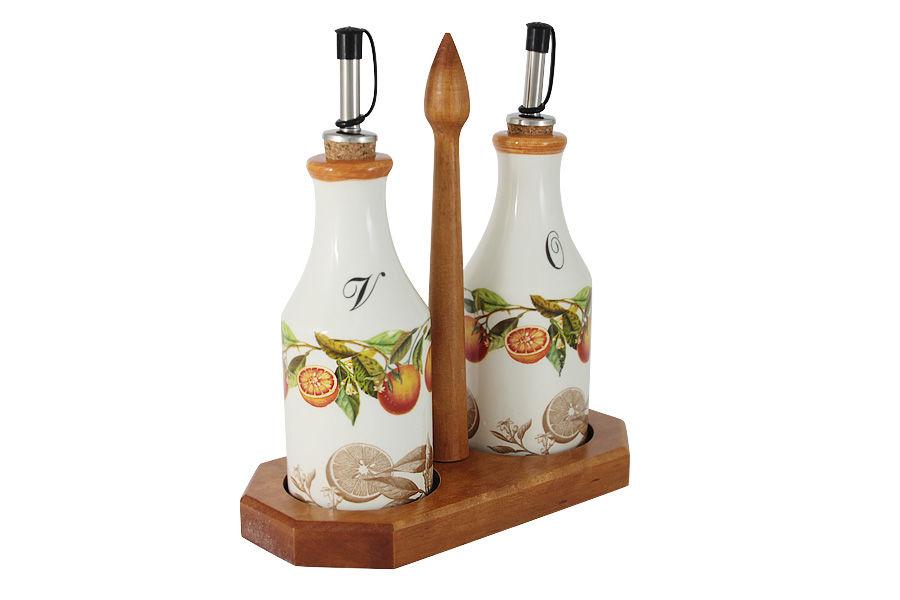 Набор для масла и уксуса на подставке АпельсиныЕмкости для хранения<br><br><br>Material: Керамика
