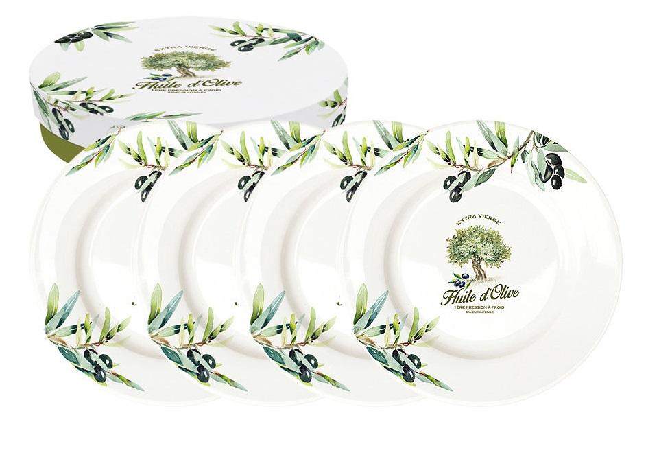 Набор десертных тарелок Прованс (4шт)Тарелки<br><br><br>Material: Фарфор