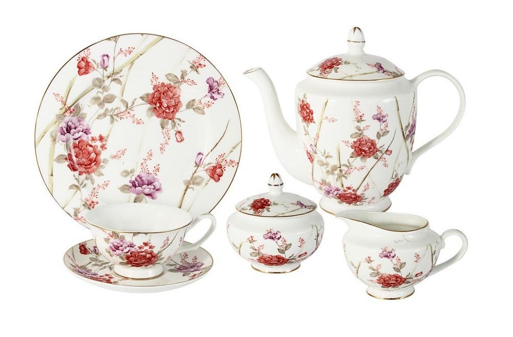 Чайный сервиз 21 предмет на 6 персон БеллаЧайные сервизы<br><br><br>Material: Фарфор