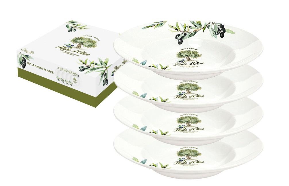 Набор тарелок для пасты Прованс (4шт)Тарелки<br><br><br>Material: Фарфор