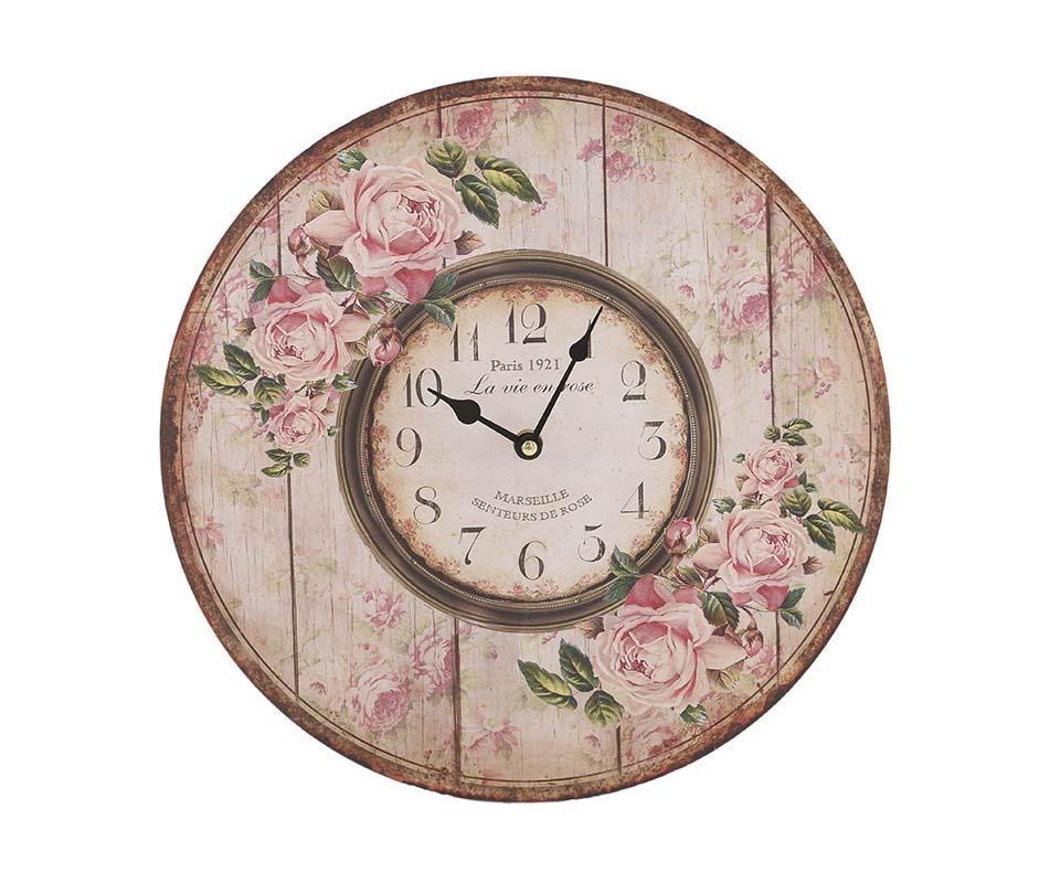 Часы настенные EuphemioНастенные часы<br>Кварцевый механизм.<br><br>Material: МДФ<br>Глубина см: 4