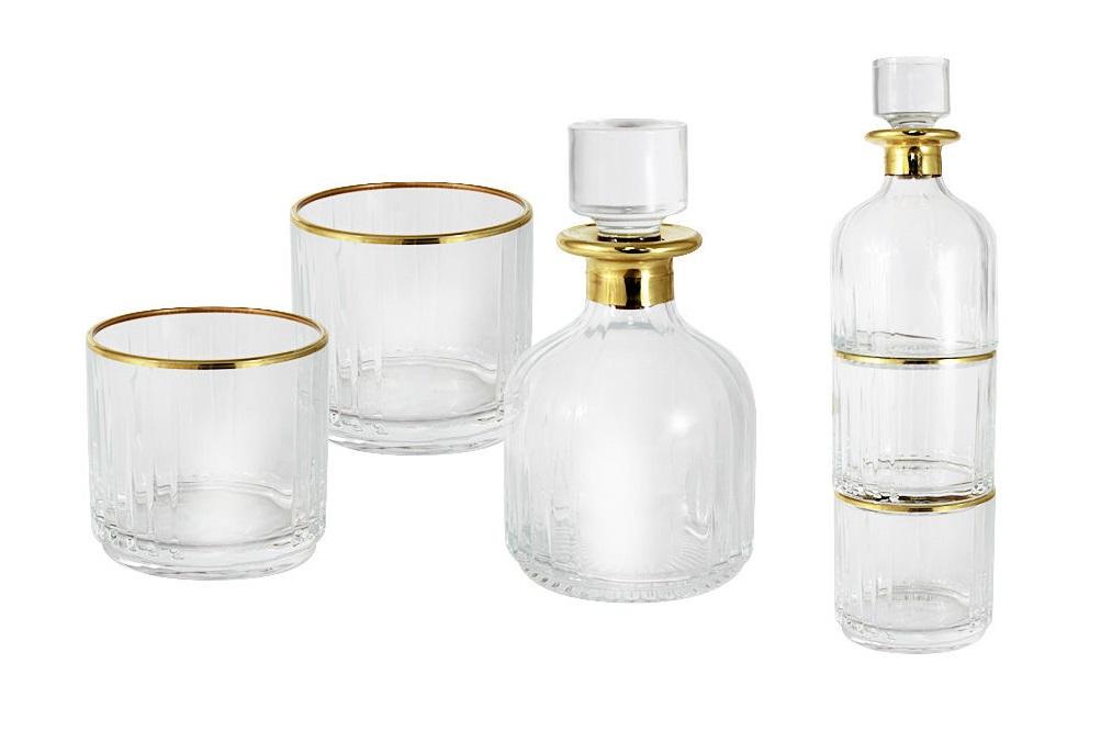 Набор для вискиСтаканы<br>Набор для виски: штоф + 2 стакана.<br><br>Material: Стекло