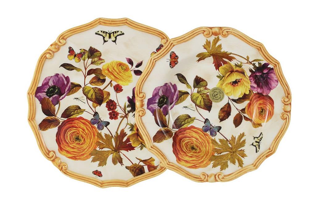 Набор тарелок Элеганс (суповая+обеденная)Тарелки<br><br><br>Material: Керамика
