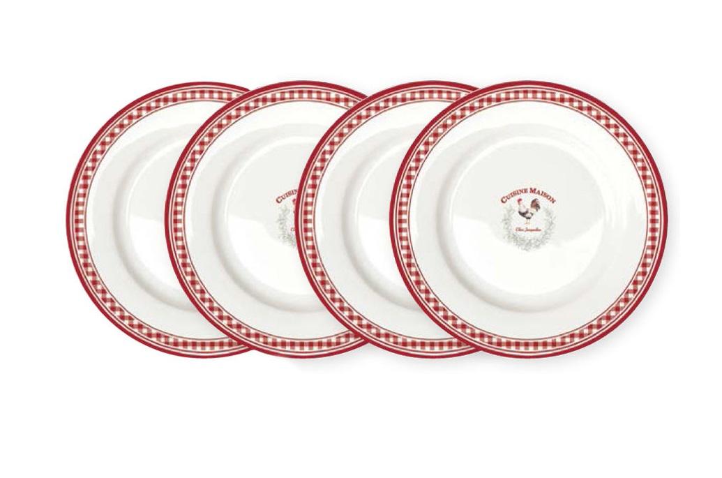 Набор десертных тарелок Французская кухня (4шт)Тарелки<br><br><br>Material: Фарфор