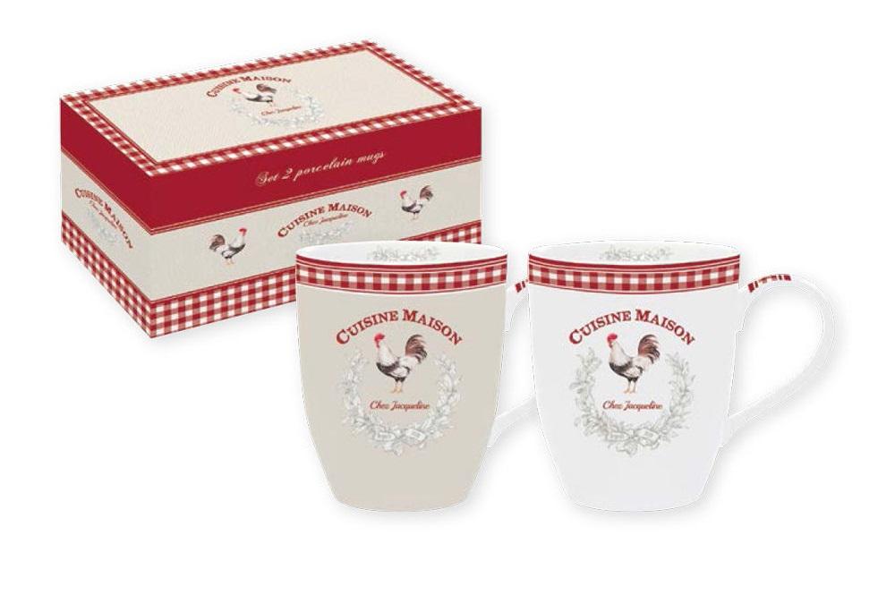 Набор кружек Французская кухня (2шт)Чайные пары, чашки и кружки<br><br><br>Material: Фарфор
