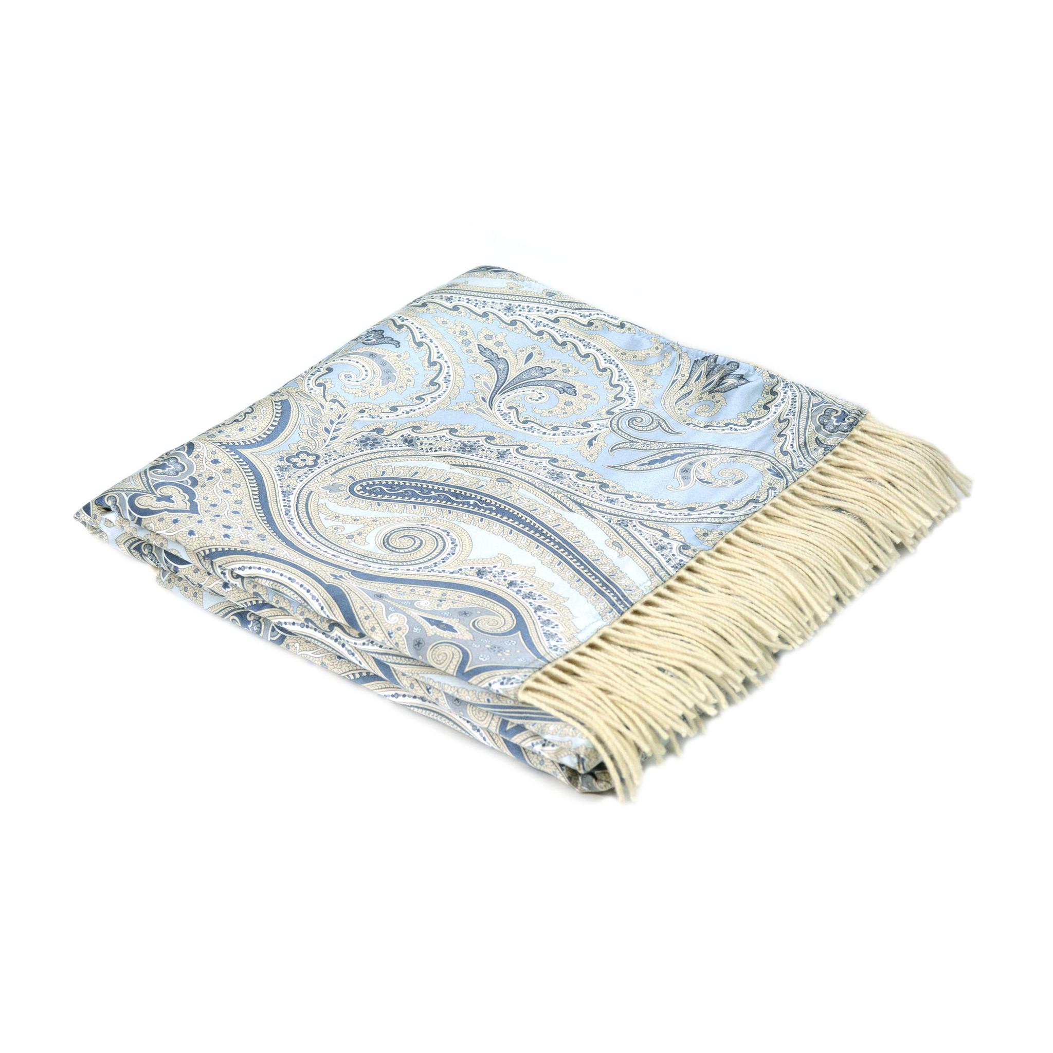 Плед CristalloПледы со смешанным составом<br>Роскошный двусторонний плед-палантин от бренда Marzotto с оригинальным жаккардовым узором, выполненный из шелка с одной стороны и смеси  мериноса и кашемира с другой стороны.<br><br>Material: Текстиль<br>Ширина см: 65.0<br>Высота см: 0.2<br>Глубина см: 180.0