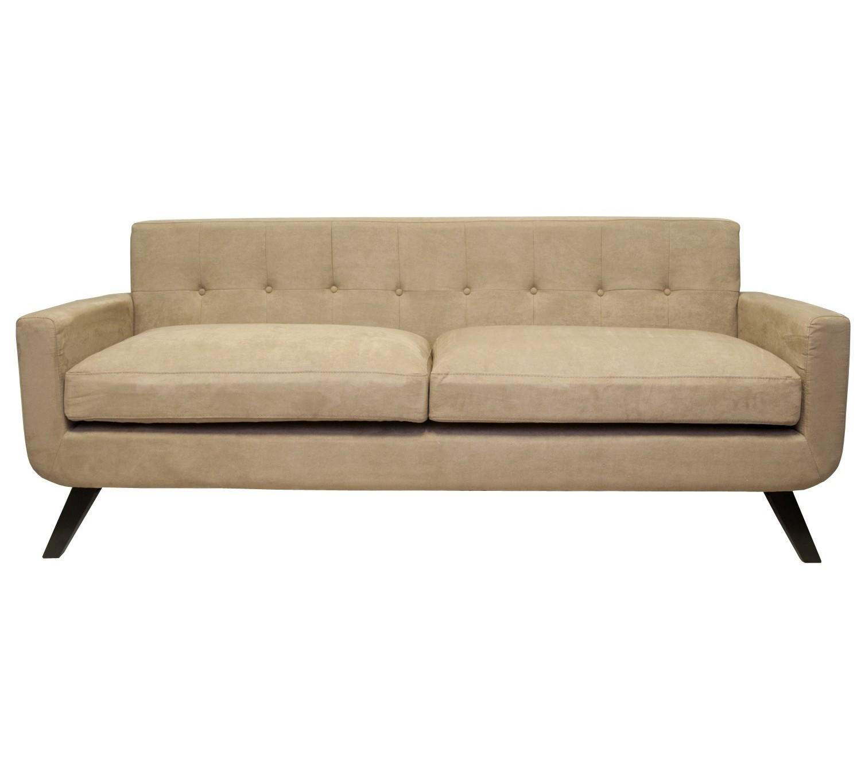 Диван UterТрехместные диваны<br>Этот лаконичный и стильный диван прекрасно дополнит практически любой интерьер. Приятная однотонная обивка нейтрального цвета впишется в любое цветовое решение. Ретро-атмосферность этому дивану придают конусообразные ножки.&amp;amp;nbsp;<br><br>Material: Текстиль<br>Ширина см: 208<br>Высота см: 86<br>Глубина см: 78