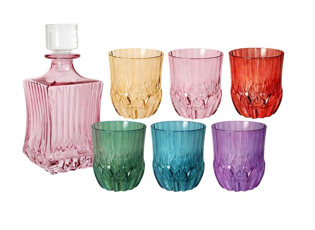 Набор для виски: штоф  + 6 стаканов АдажиоСтаканы<br><br><br>Material: Стекло