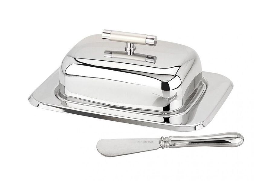 Масленка с ножом ПерлеЕмкости для хранения<br><br><br>Material: Сталь