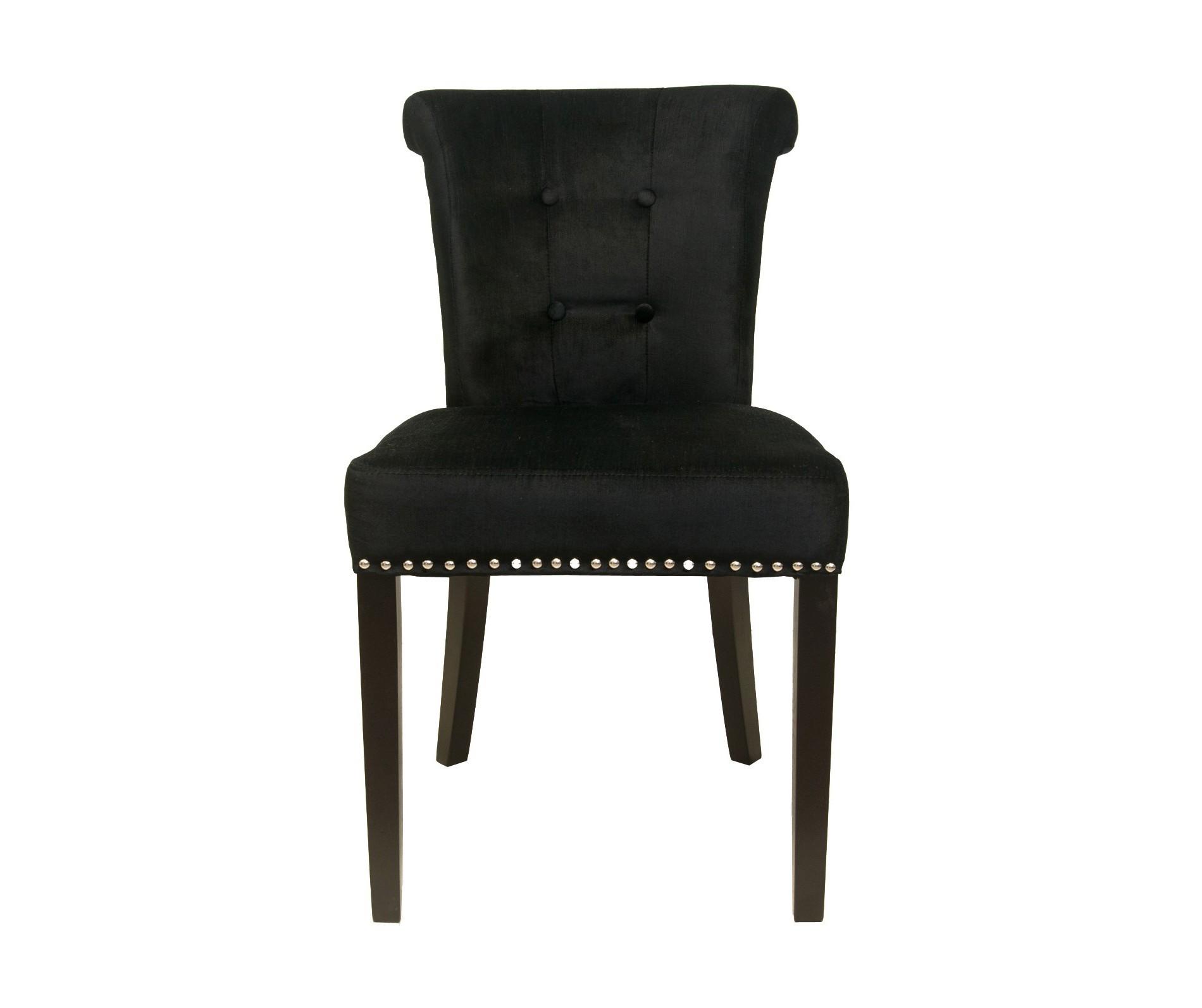 Стул UtraОбеденные стулья<br>Стильный стул Utra сразу привлекает к себе внимание. Хоть он и выполнен в классическом чёрном цвете, но его формы и декор цепляют взгляд. Серебряное металлическое кольцо на спинке стула, а также металлические клёпки по периметру придают шик изделию. Такой предмет декора подарит роскошь Вашему интерьерному решению.&amp;amp;nbsp;<br><br>Material: Текстиль