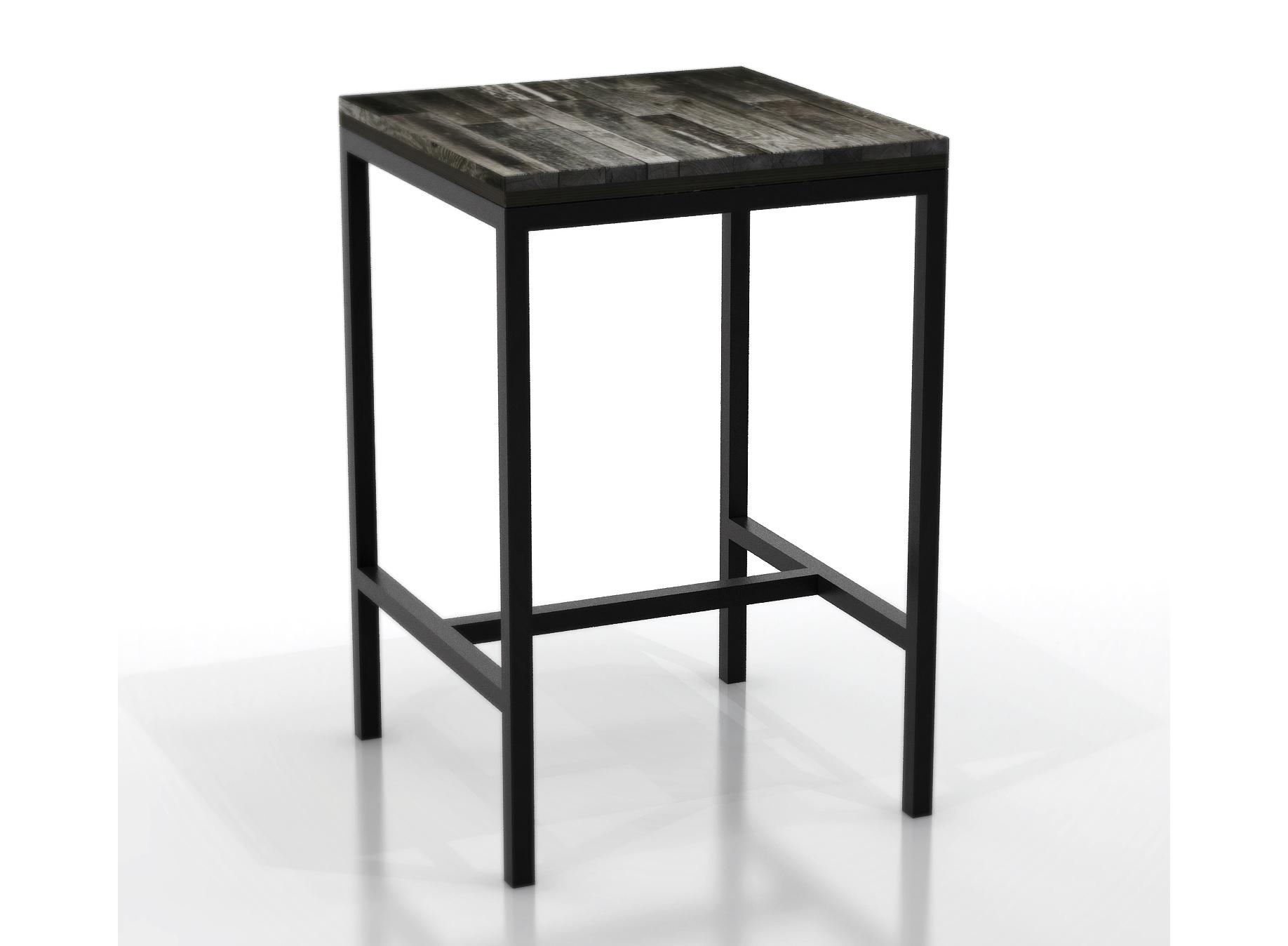 Стол барный Metalframe oldwoodБарные столы<br>Материал: березовая фанера, старая доска, стальная труба 3 х 3 см. На основание крепится мебельный войлок.Возможно изготовление любых размеров, стоимость необходимо уточнять.Ширина: 60-300 см, глубина: 60-100 см, высота: 91/101/111/121 см.<br><br>kit: None<br>gender: None