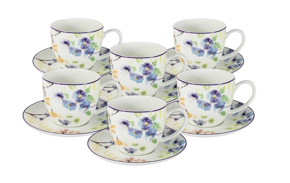 Набор чашей Акварель (6шт)Чайные пары, чашки и кружки<br><br><br>Material: Фарфор