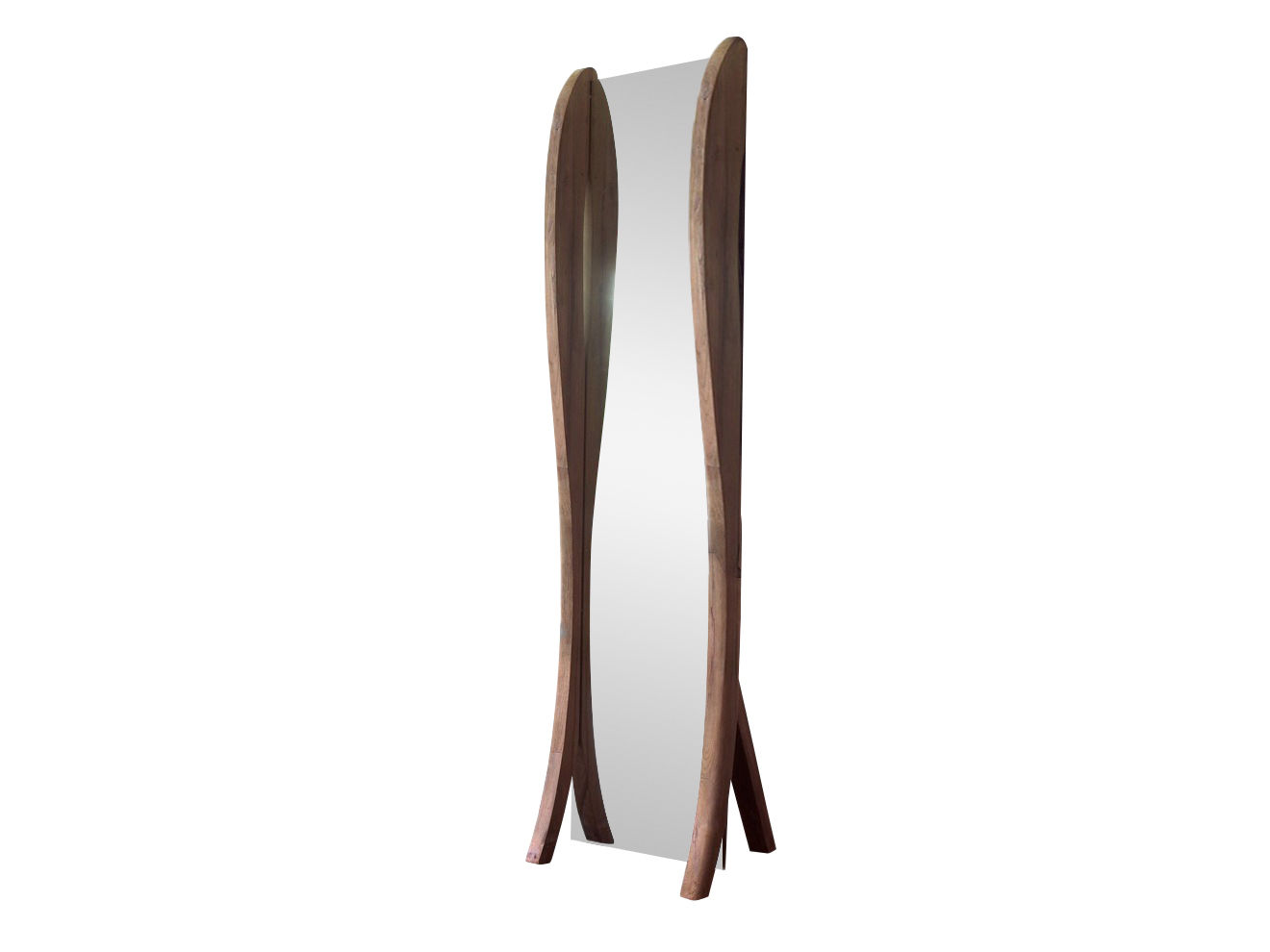 Зеркало напольное LucyНапольные зеркала<br>Напольное зеркало компании Teak House из далекой Индонезии придаст интерьеру особую изюминку: рама на ножках изготовлена из красивой, влагоустойчивой и прочной тиковой древесины. Любители аутентичных вещей, путешествий и этнических мотивов в интерьере оценят это зеркало по достоинству.<br><br>Material: Тик<br>Ширина см: 56<br>Высота см: 220<br>Глубина см: 50