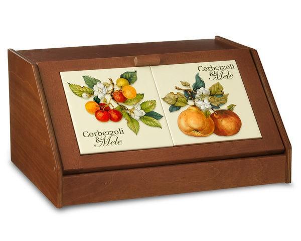 Хлебница Итальянские фруктыХлебница<br><br><br>Material: Дерево