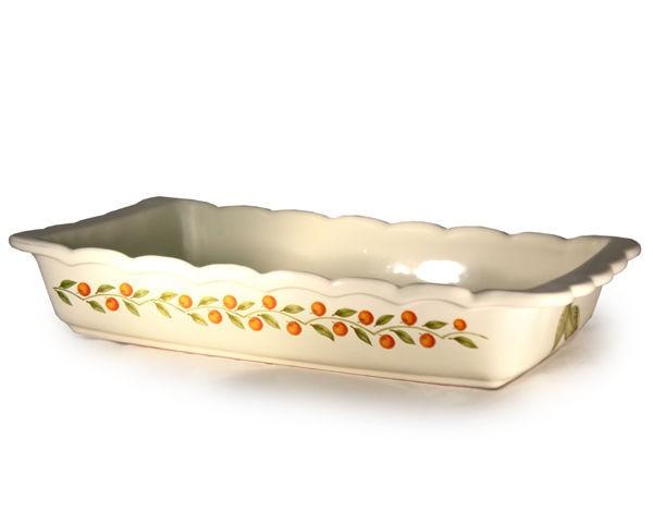 Блюдо для запекания  Итальянские фруктыДекоративные блюда<br><br><br>Material: Керамика