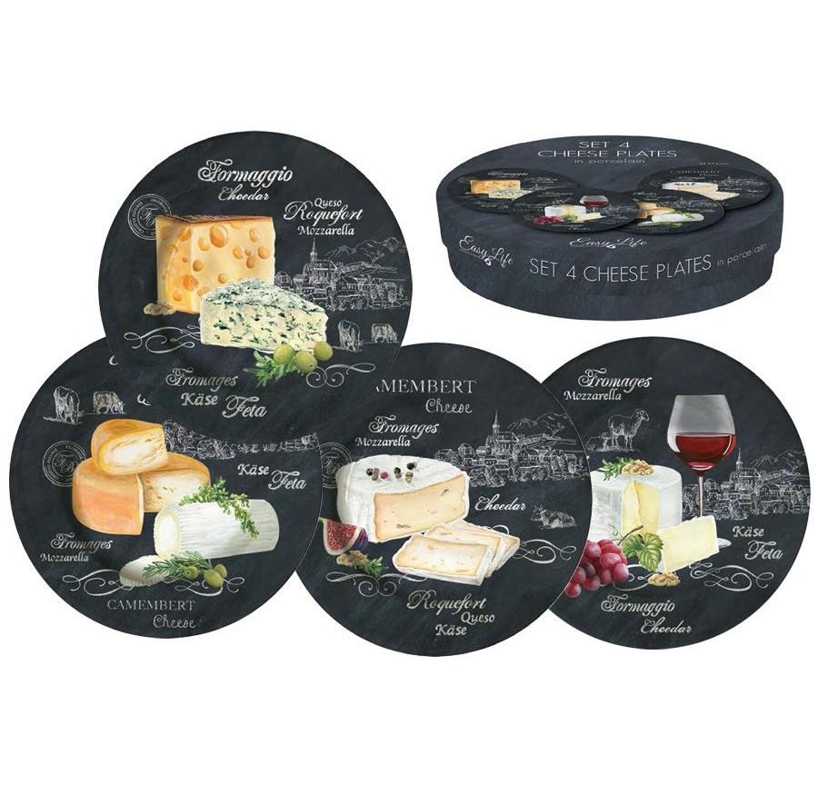 Набор десертных тарелок Мир сыров (4шт)Тарелки<br><br><br>Material: Фарфор