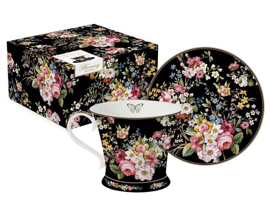 Чашка с блюдцем Цветочный карнавалЧайные пары, чашки и кружки<br><br><br>Material: Фарфор