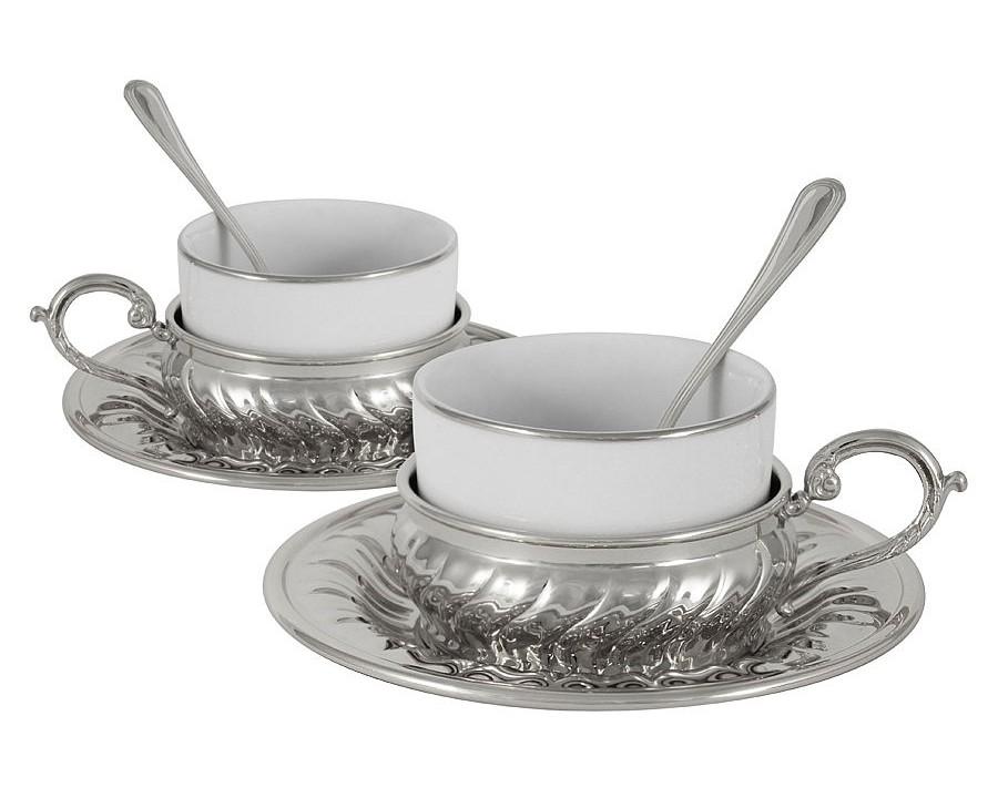 Чайный набор на 2 персоны StradivariЧайные пары, чашки и кружки<br><br><br>Material: Металл