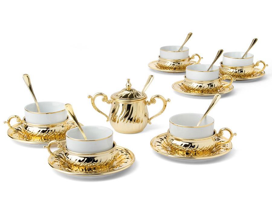 Чайный набор на 6 персон StradivariЧайные пары, чашки и кружки<br><br><br>Material: Металл