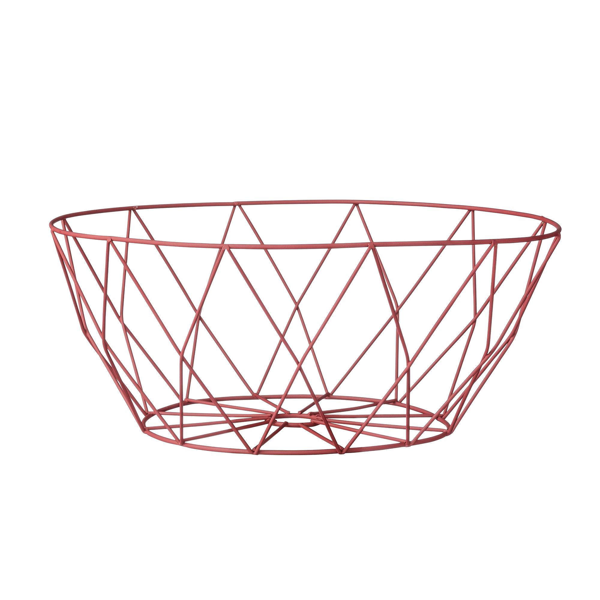 Корзина Red metalКорзины<br>Оригинальная корзина из красных металических прутьев для фруктов или хлебобулочных изделий от датского бренда Bloomingville.<br><br>Material: Металл