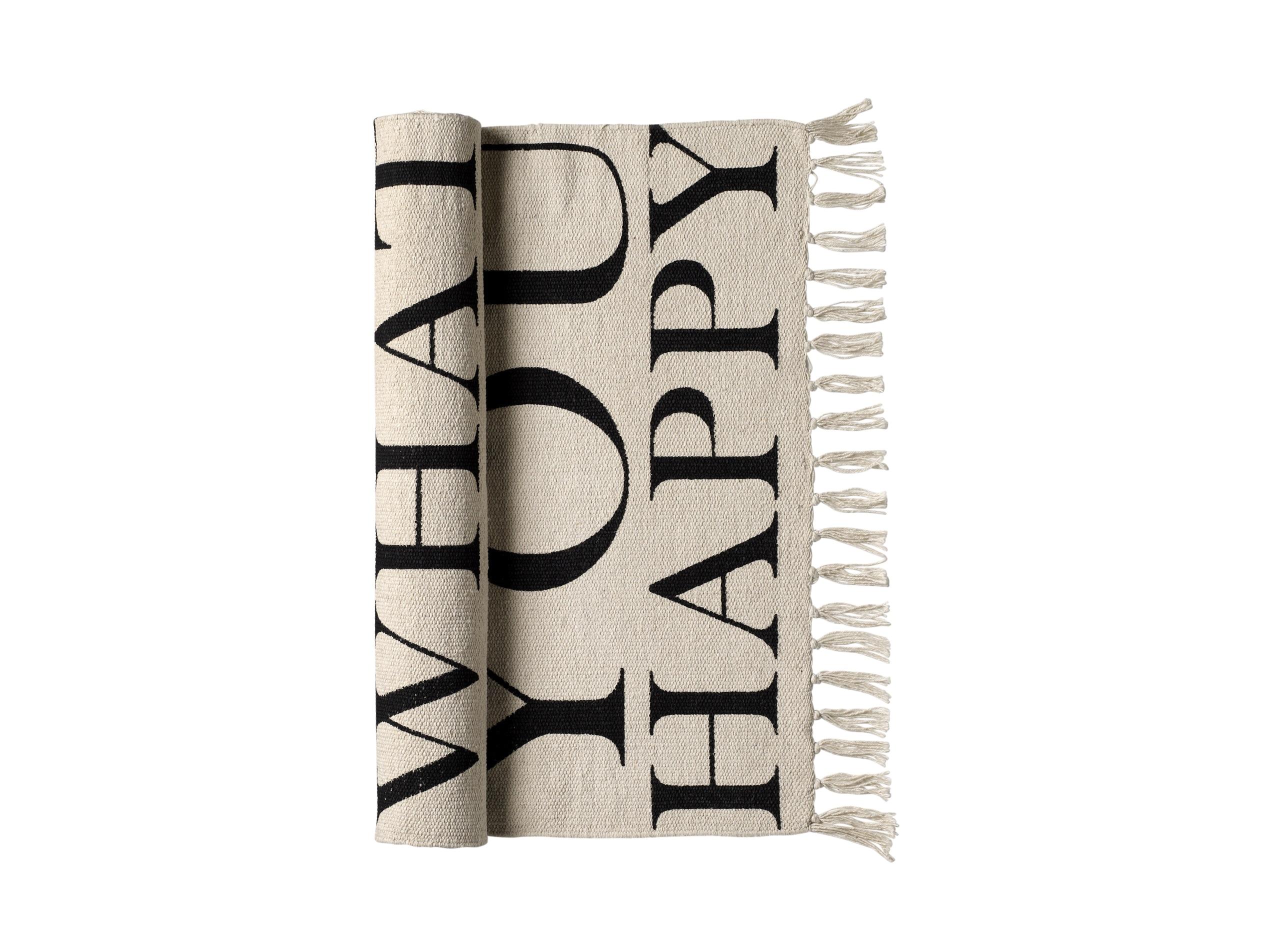 Ковер Do moreПрямоугольные ковры<br>Этот хлопковый коврик от датских дизайнеров Bloomingville с позитивной надписью &amp;quot;Do more of what makes you happy&amp;quot; напомнит о важном и обязательно привлечет внимание ваших гостей! <br>Добавьте смелую деталь в вашем доме, которая обязательно добавит позитив!<br><br>Material: Хлопок<br>Ширина см: 60.0<br>Высота см: 120.0<br>Глубина см: 120.0