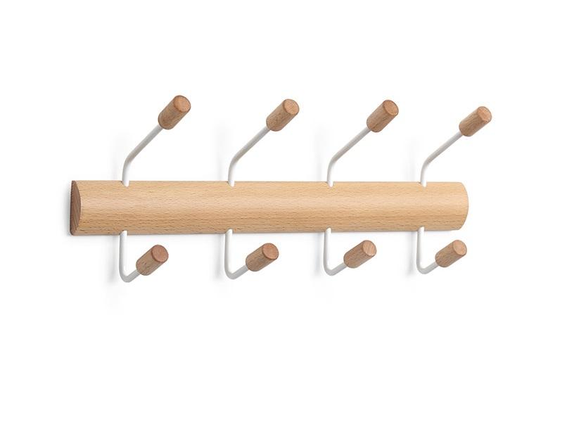 Вешалка PogoВешалки<br>&amp;lt;div&amp;gt;Практичная вешалка для одежды на 4 крючка. Металлические крючки с деревянными наконечниками надёжно удержат и лёгкие аксессуары, и тяжёлые пальто или сумки. Деревянные наконечники округлой формы защитят одежду от повреждений. Крепится к стене стандартными шурупами или навешивается на дверь при помощи специальных креплений, которые входят в комплект. Надверные крючки снабжены внутренними вкладками, которые защитят дверь от царапин и улучшат сцепление .&amp;lt;/div&amp;gt;&amp;lt;div&amp;gt;&amp;lt;br&amp;gt;&amp;lt;/div&amp;gt;&amp;lt;div&amp;gt;Материал: дерево, металл&amp;lt;/div&amp;gt;&amp;lt;div&amp;gt;&amp;lt;br&amp;gt;&amp;lt;/div&amp;gt;<br><br>Material: Дерево<br>Ширина см: 36<br>Высота см: 14<br>Глубина см: 8