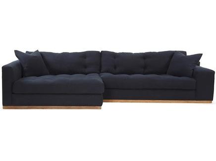 Диван bradford (myfurnish) синий 370x66x154 см.