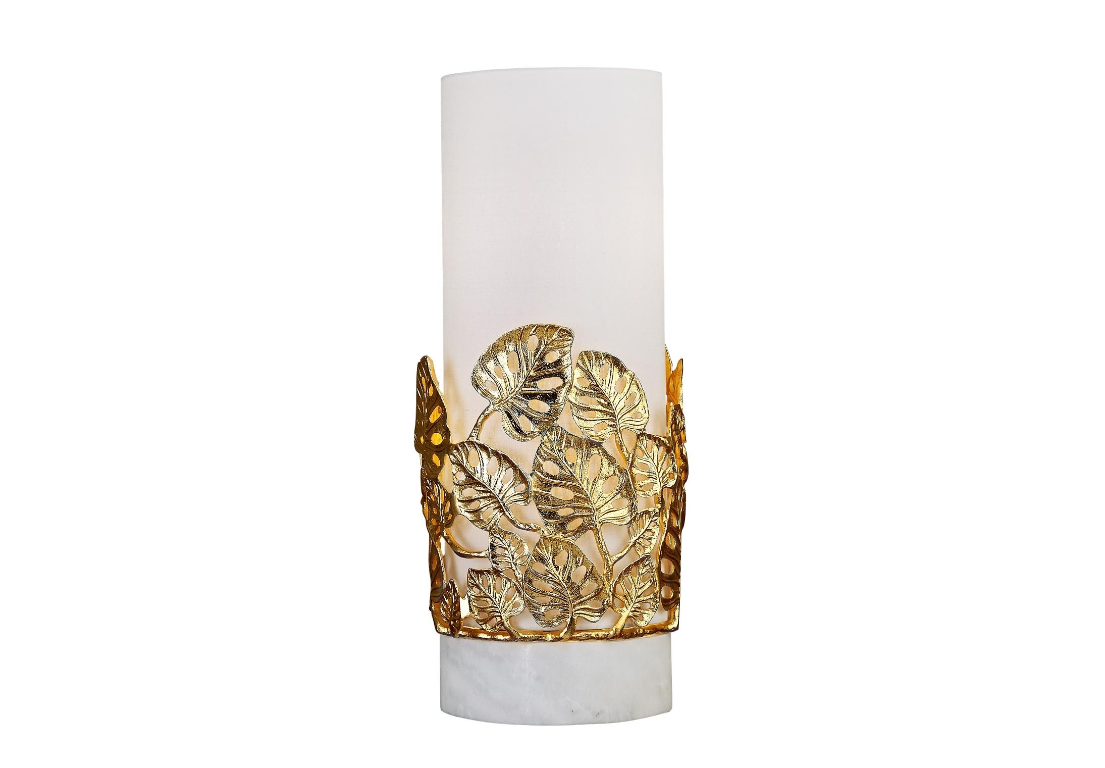 Светильник настольный PomeziaДекоративные лампы<br>&amp;lt;div&amp;gt;Настольная лампа с декоративными элементами в виде листочков золотистого цвета, &amp;amp;nbsp;литье из латуни, с тканевым абажуром молочного цвета и на подставке из натурального мрамора. В любом интерьере она будет стильным элементом декора.&amp;lt;/div&amp;gt;&amp;lt;div&amp;gt;&amp;lt;br&amp;gt;&amp;lt;/div&amp;gt;&amp;lt;div&amp;gt;Вид цоколя: E14&amp;lt;/div&amp;gt;&amp;lt;div&amp;gt;Мощность: 40W&amp;lt;/div&amp;gt;&amp;lt;div&amp;gt;Количество ламп: 2 (нет в комплекте)&amp;lt;/div&amp;gt;<br><br>Material: Латунь<br>Высота см: 66.0