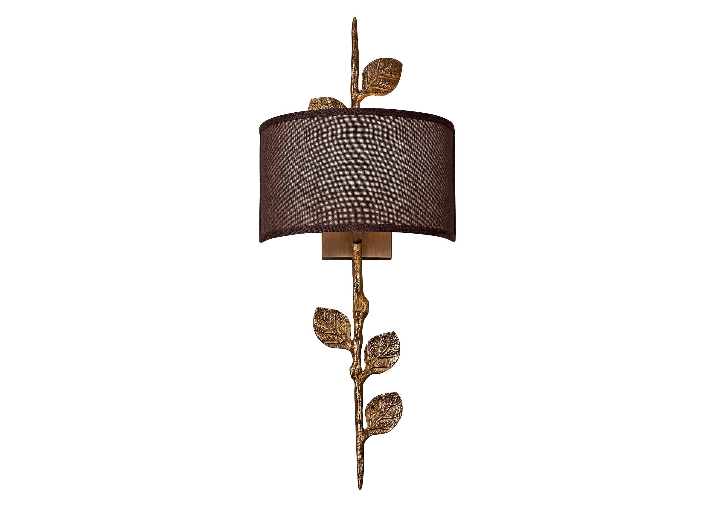 Светильник настенный RavennaБра<br>&amp;lt;div&amp;gt;Бра настенное в виде веточки с листиками, цвета состаренного золота с коричневым тканевым абажуром. Хорошо подойдет для современного интерьера, оформленного в винтажном, эко, ар-деко, фьюжн, минимализм и лофт стилях. В любом интерьере оно будет ярким и стильным элементом декора.&amp;lt;/div&amp;gt;&amp;lt;div&amp;gt;&amp;lt;br&amp;gt;&amp;lt;/div&amp;gt;&amp;lt;div&amp;gt;&amp;lt;br&amp;gt;&amp;lt;/div&amp;gt;&amp;lt;div&amp;gt;Вид цоколя: E14&amp;lt;/div&amp;gt;&amp;lt;div&amp;gt;Мощность: 40W&amp;lt;/div&amp;gt;&amp;lt;div&amp;gt;Количество ламп: 1 (нет в комплекте)&amp;lt;/div&amp;gt;<br><br>Material: Металл<br>Ширина см: 30.0<br>Высота см: 74.0<br>Глубина см: 16.0