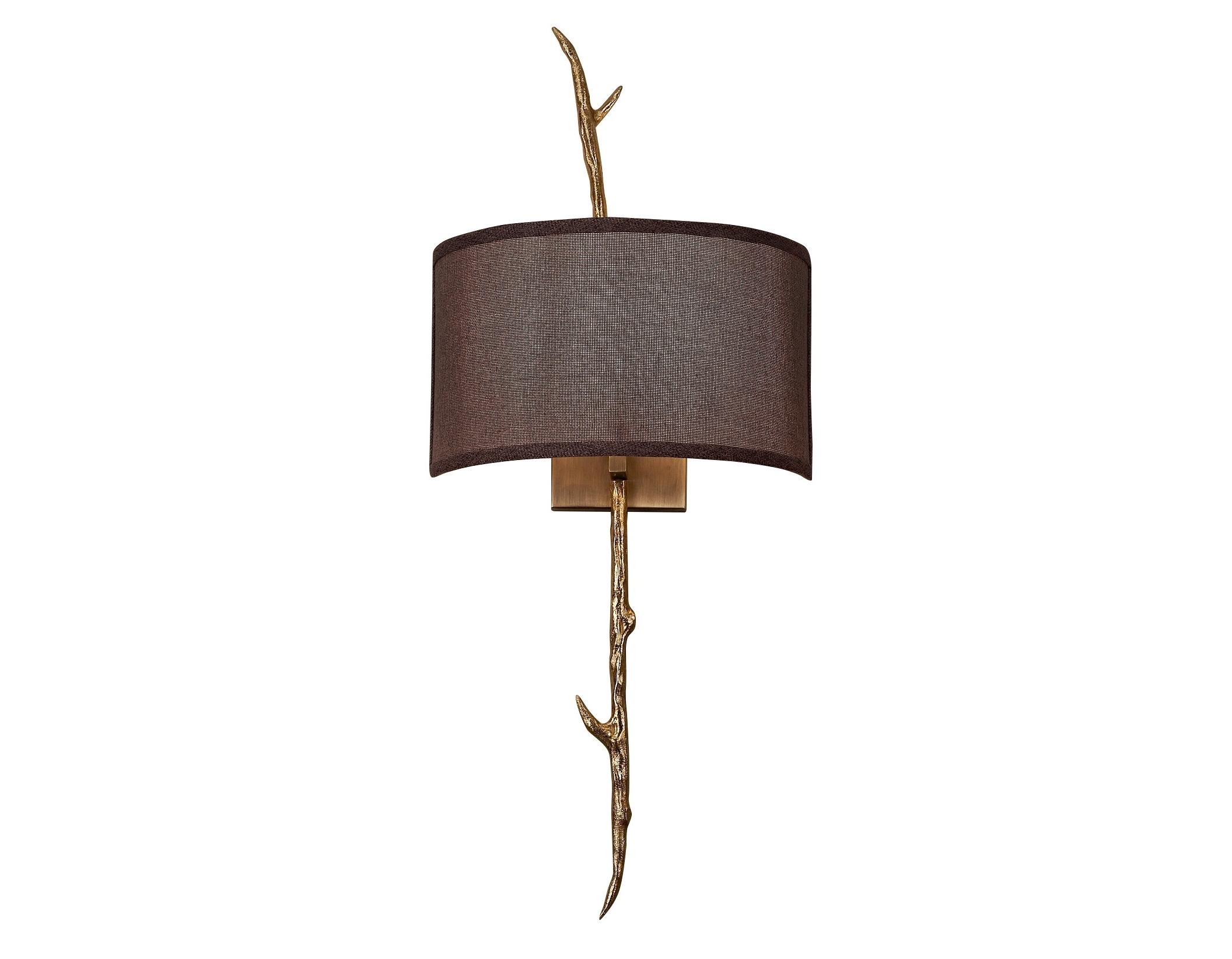 Светильник настенный FoggiaБра<br>&amp;lt;div&amp;gt;Бра настенное в виде веточки с листиками, цвета состаренного золота с коричневым тканевым абажуром. Хорошо подойдет для современного интерьера, оформленного в винтажном, эко, ар-деко, фьюжн, минимализм и лофт стилях. В любом интерьере оно будет ярким и стильным элементом декора.&amp;lt;/div&amp;gt;&amp;lt;div&amp;gt;&amp;lt;br&amp;gt;&amp;lt;/div&amp;gt;&amp;lt;div&amp;gt;&amp;lt;br&amp;gt;&amp;lt;/div&amp;gt;&amp;lt;div&amp;gt;Вид цоколя: E14&amp;lt;/div&amp;gt;&amp;lt;div&amp;gt;Мощность: 40W&amp;lt;/div&amp;gt;&amp;lt;div&amp;gt;Количество ламп: 1 (нет в комплекте)&amp;lt;/div&amp;gt;<br><br>Material: Металл<br>Ширина см: 30.0<br>Высота см: 71.0<br>Глубина см: 18.0