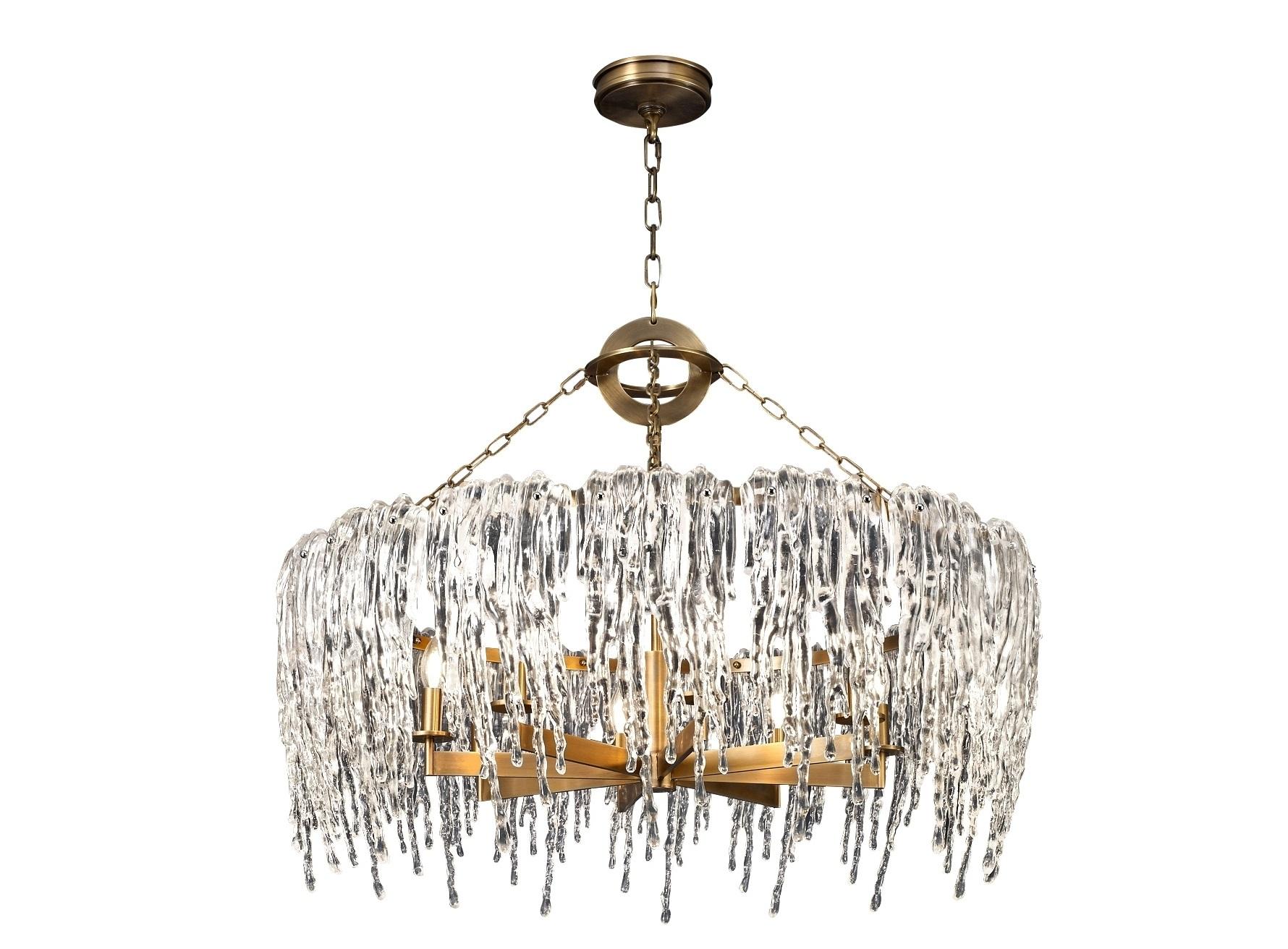 Люстра AvellinoЛюстры подвесные<br>&amp;lt;div&amp;gt;Экстравагантная люстра золотого цвета из латуни с прозрачным абажуром из полиуретана. Хорошо подойдет для современного интерьера, оформленного в винтажном, эко, ар-деко, фьюжн, минимализм и лофт стилях. В любом интерьере она будет ярким и стильным элементом декора.&amp;lt;/div&amp;gt;&amp;lt;div&amp;gt;&amp;lt;br&amp;gt;&amp;lt;/div&amp;gt;&amp;lt;div&amp;gt;Вид цоколя: E14&amp;lt;/div&amp;gt;&amp;lt;div&amp;gt;Мощность: 40W&amp;lt;/div&amp;gt;&amp;lt;div&amp;gt;Количество ламп: 8 (нет в комплекте)&amp;lt;/div&amp;gt;<br><br>Material: Латунь<br>Высота см: 79