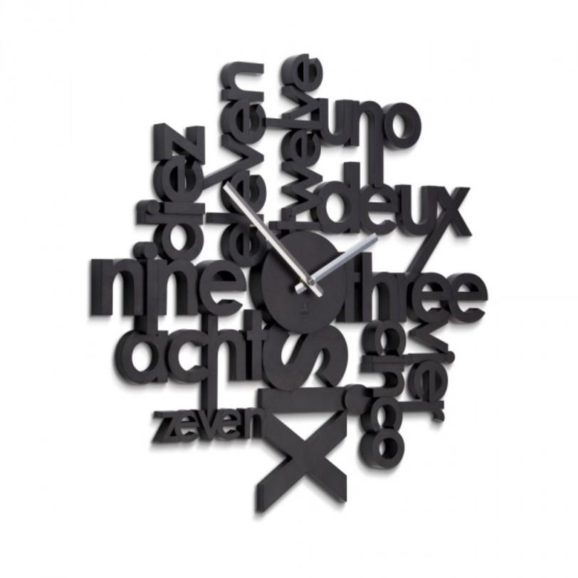 Часы настенные LinguaНастенные часы<br>Эти часы для мультилингвальных. Цифры здесь написаны на самых разных языках. Эти стильные настенные часы покажут, что их хозяин современый человек, для которого не существует языковых границ. Возможно, кого-то часы сподвигнут на дальнейшее изучение иностранных языков, а для кого-то станут изюминкой в интерьере. Механизм работает при помощи двух батареек АА.<br><br>Material: Полистоун<br>Width см: 5<br>Depth см: 5.7<br>Height см: 52