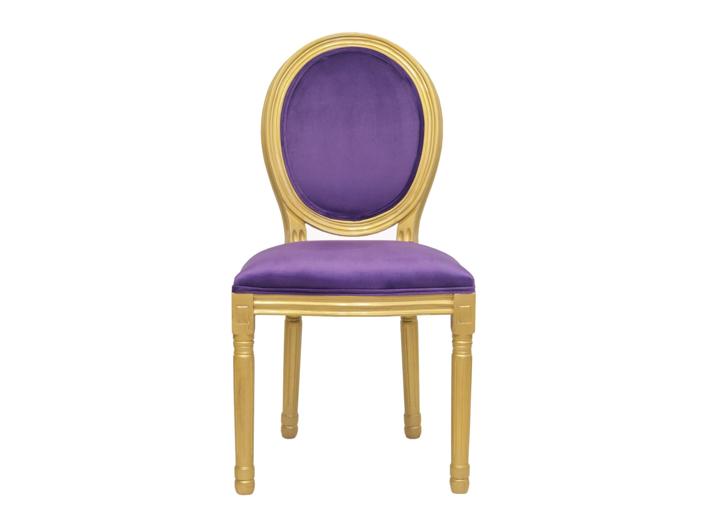 Стул VolkerОбеденные стулья<br>Cтул Volker с округлой спинкой напоминающей медальон, выполнен в элегантном классическом французском стиле. Основание модели выполнено из ценной породы древесины - массива каучукового дерева, выкрашенного в цвет золота. Такой стул эффектно смотрится как в контрастной, так и в однотонной обстановке.&amp;lt;div&amp;gt;&amp;lt;br&amp;gt;&amp;lt;/div&amp;gt;&amp;lt;div&amp;gt;Материал: Велюр, каучуковое дерево&amp;lt;/div&amp;gt;<br><br>Material: Дерево<br>Ширина см: 50.0<br>Высота см: 100.0<br>Глубина см: 54.0