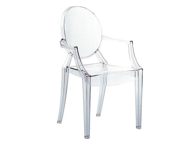 Стул LouisСтулья с подлокотниками<br>Классическая дворцовая форма исполнена в прозрачном, почти невидимом пластике – такое сочетание может безболезненно позволить себе только дизайнерский дом KARTELL. Прелесть этих стульев в том, что они визуально не скрадывают пространство, и благодаря своей воздушности гармонируют с любым стилем.&amp;lt;div&amp;gt;&amp;lt;br&amp;gt;&amp;lt;/div&amp;gt;&amp;lt;div&amp;gt;&amp;lt;br&amp;gt;&amp;lt;/div&amp;gt;<br><br>Material: Пенопласт<br>Ширина см: 54.0<br>Высота см: 94.0<br>Глубина см: 55.0