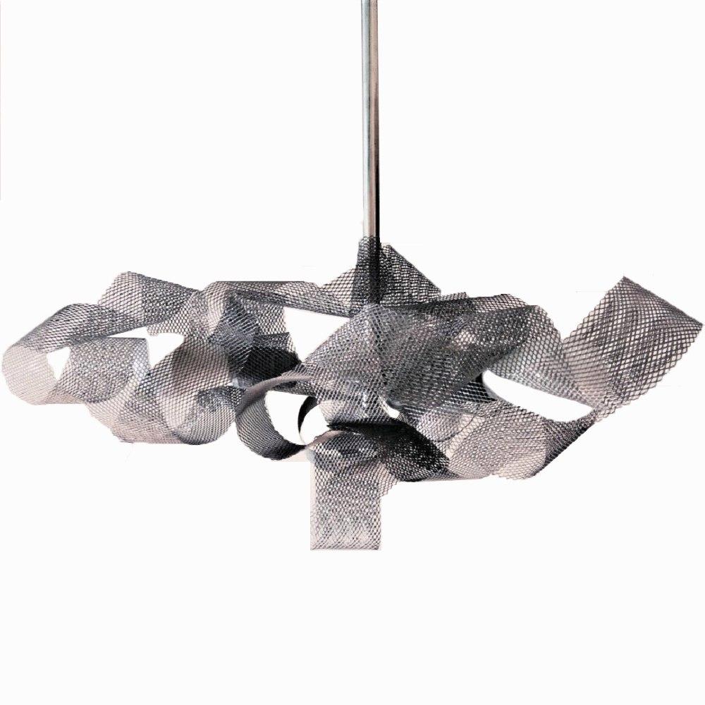 Люстра Silver cloudЛюстры на штанге<br>Серебристое стальное облачко эффективно рассеивает свет трех мощных светодиодных ламп. Сложная форма не дает глазу зацепиться и воспринимается как нечто простое и естественное. В выключенном состоянии этот светильник так же красив, как и в светлой своей ипостаси. Пересечения линий сетки удивительно графичны и напоминают о красоте математических графиков.&amp;amp;nbsp;&amp;lt;div&amp;gt;&amp;lt;br&amp;gt;&amp;lt;/div&amp;gt;&amp;lt;div&amp;gt;&amp;lt;div&amp;gt;Вид цоколя: LED&amp;lt;/div&amp;gt;&amp;lt;div&amp;gt;Мощность: 16W&amp;lt;/div&amp;gt;&amp;lt;div&amp;gt;Количество ламп: 3&amp;lt;/div&amp;gt;&amp;lt;/div&amp;gt;<br><br>Material: Металл<br>Ширина см: 68.0<br>Высота см: 70.0<br>Глубина см: 90.0